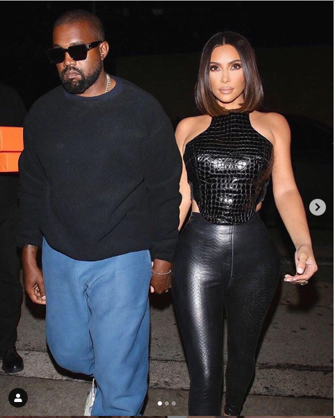 ?Kim Kardashian and Kanye West hold hands as they step out for date night?(Photos)