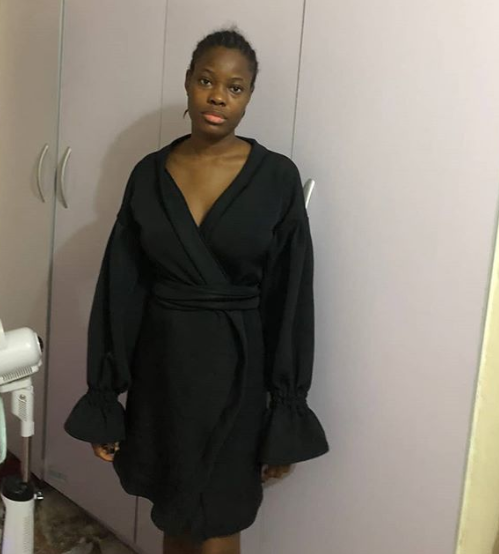 Lady asks her tailor to make her a black shift dress....see what was delivered to her (photos)