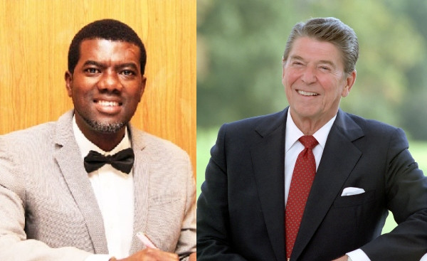 Reno Omokri reacts to old audio tapes of late US president Ronald Reagan calling African delegates at the UN