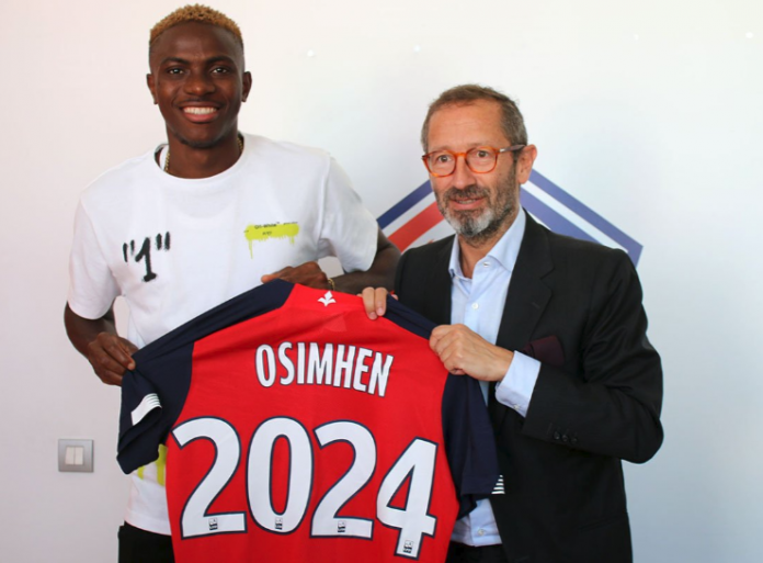 Super Eagles striker Victor Osimhen completes ?15m move to Lille ?from Charleroi (Photos)