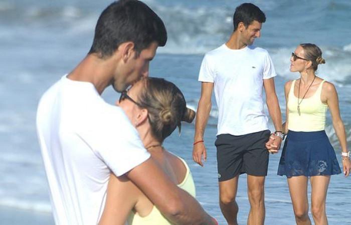 Image result for djokovic wife marbella beach 2019