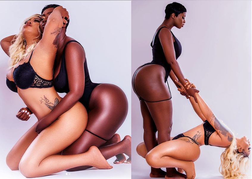 Toyin Lawani releases more raunchy photos with curvy actress Princess Shyngle