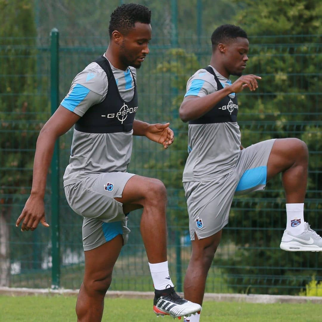 Mikel Obi trains for the first time with his new club, Trabzonspor (Photos)