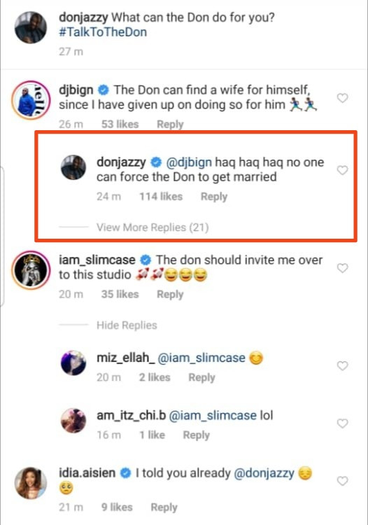 """""""No one can force me to get married"""" Don Jazzy says"""