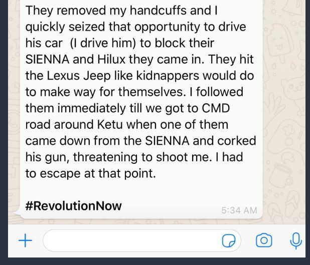 Deji Adeyanju shares