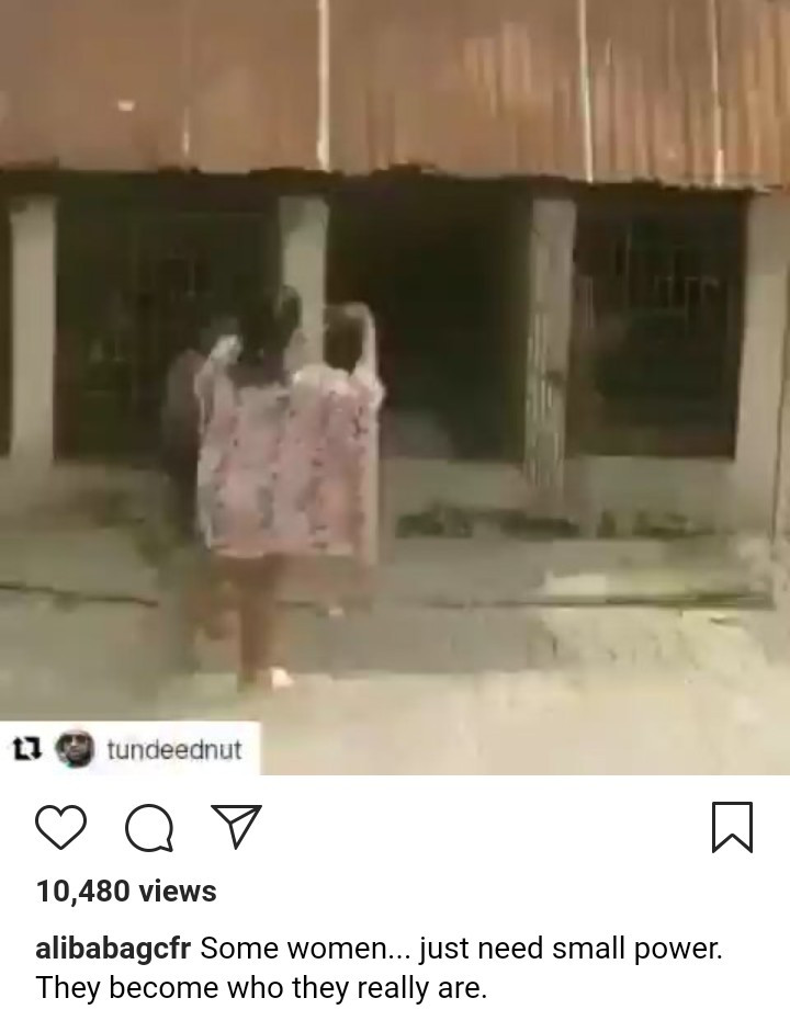 Toyin Abraham and Alibaba react to woman filmed flogging a boy and putting him in a cage with dogs