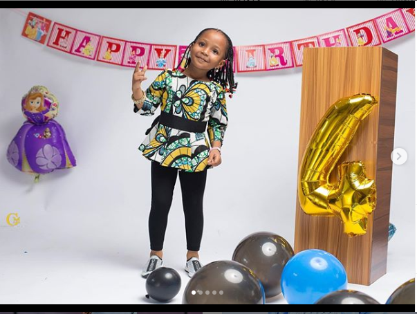 Ahmed Musa celebrates his daughter as she clocks 3 today (Photos)