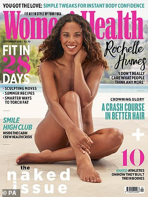 TV presenter Rochelle Humes poses completely naked as she covers Women