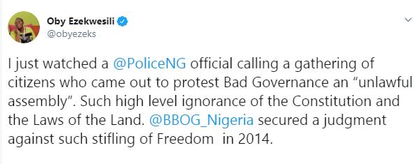 #RevolutionIsNow: Oby Ezekwesili slams ACP Tijani Fatai for saying
