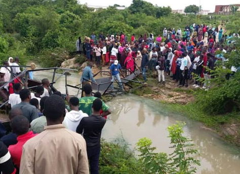 Photos: Five students killed, many others injured as metal bridge collapses in Abubakar Tafawa Balewa University