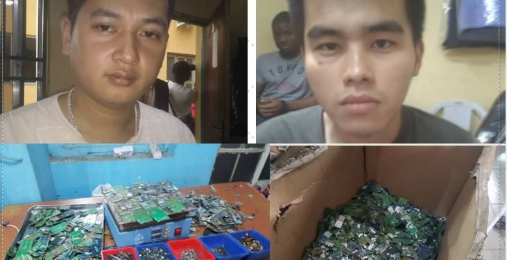 Chinese nationals arrested for operating illegal toxic waste factory in Lagos (photos)