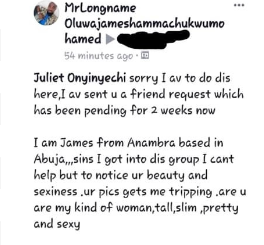 Nigerian man tired of masturbating with his crush