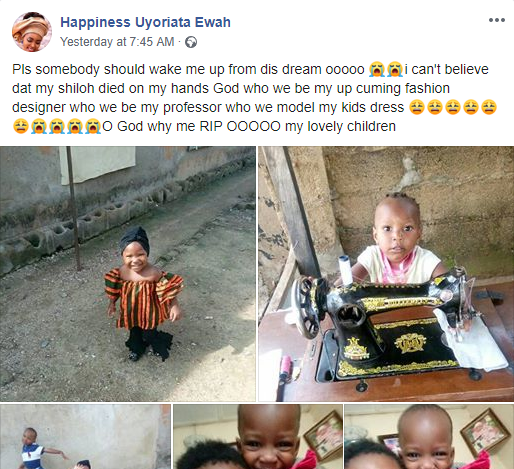 Heartbroken Nigerian mother cries out over her kids who were allegedly poisoned to death (photos)