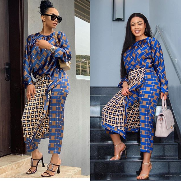 Toke Makinwa vs Nina: Who rocked the Zara print piece better?