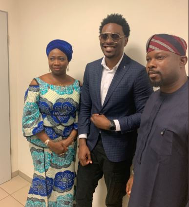 Tayo Faniran meets Abike Dabiri following his recent?Xenophobia attack in South Africa (Photos)