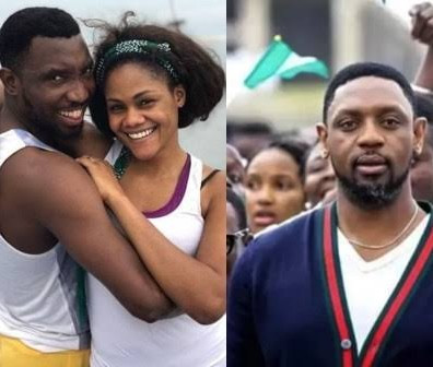 """No amount of lies can put down a heart that has no room for fear"" - Timi Dakolo says as he stands by his wife amid reports of police intimidation"