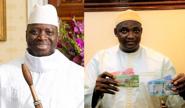 Gambia removes Yahya Jammeh's image from bank notes