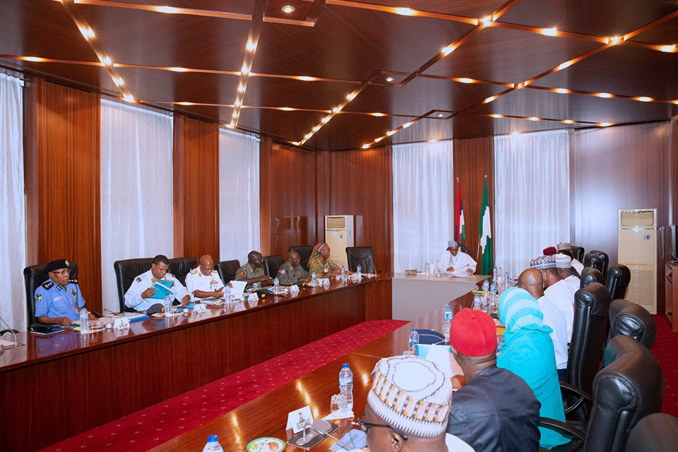 Insecurity: President Buhari in closed door meeting with service chiefs