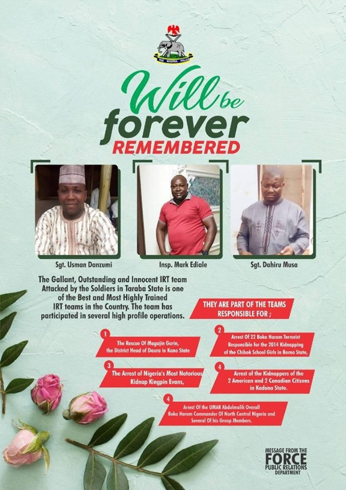 Murder of Three Policemen by Soldiers:?Where is Hamisu Wadume, the millionaire kidnapper we arrested - Nigerian Police questions the Army