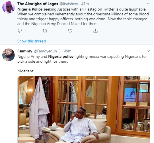 Taraba killing: Nigerians react as Police calls out Nigerian Army on Twitter
