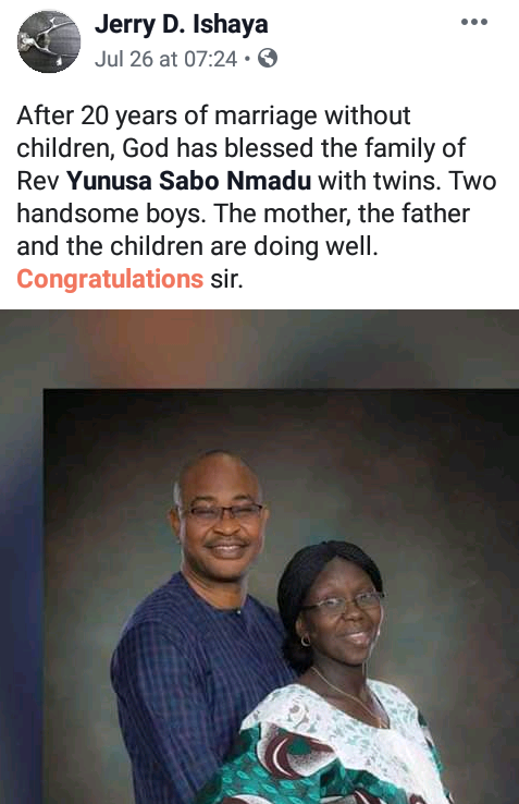Photos: Nigerian pastor and wife welcome a set of twins after 25 years of marriage