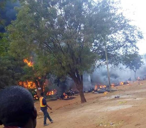 At least 57 people burnt to death while scooping fuel from a fallen tanker in Tanzania (Photos)
