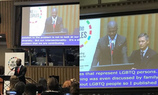 Growing up in Warri, I never knew I will address leaders at the highest diplomatic center in UN - Nigerian gay man, Edafe Okporo