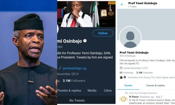 Presidency gives reason on why Yemi Osinbajo