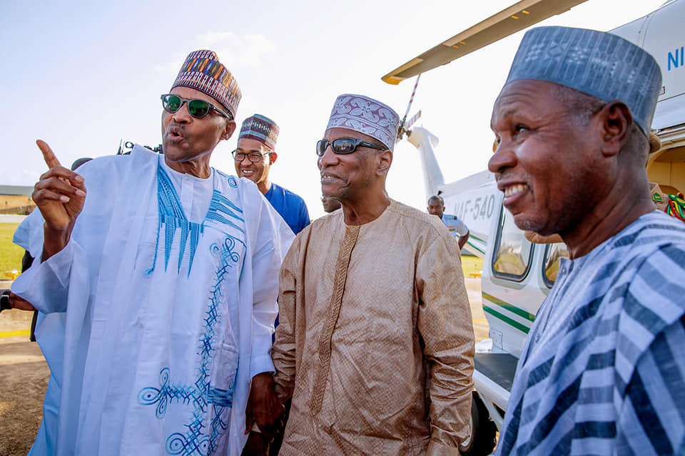 Photos:?President Alpha Conde of Guinea visits President?Buhari in Daura to celebrate Sallah