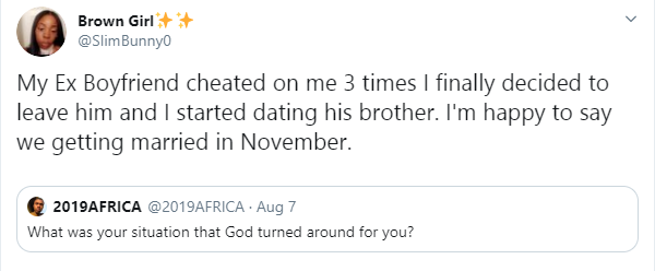 South African lady set to marry her ex-boyfriend