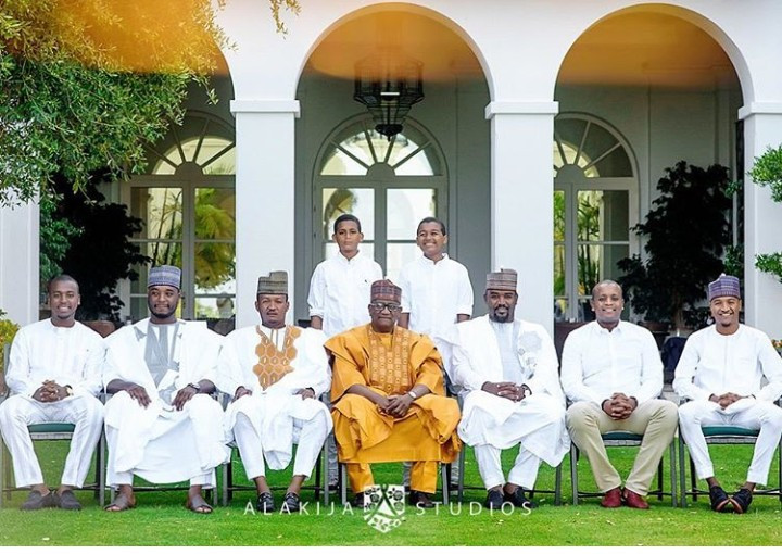 Beautiful new photos of billionaire businessman Mohammed Indimi, his kids, and grandkids as they reunite for Sallah