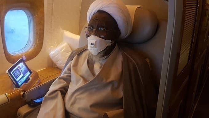 Photos: El-Zakzaky, wife depart Nigeria for India (photos)