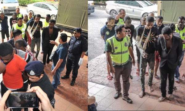 20 Nigerian students arraigned in court for attacking Malaysian cops