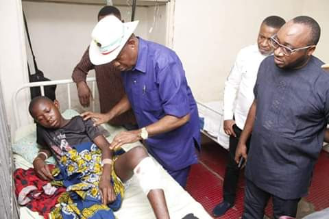 Photos: Governor Udom commiserates with injured victims, family of farmer killed by suspected herdsmen in Akwa Ibom