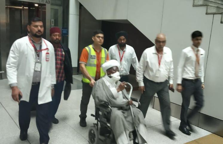 Photos: El-Zakzaky, wife arrive India for treatment