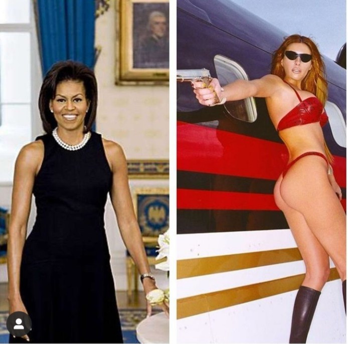 Mathew Knowles highlights the hypocrisy of those who criticized Michelle Obama for showing her arms but are fine with Melania Trump posing in a bikini with a gun