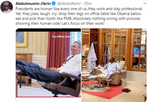 Abdulmumin Jibrin defends Buhari