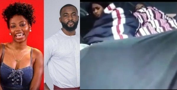 BBNaija: Esther and Frodd shocked as Khafi and Gedoni engage in sex before them