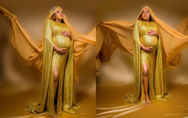 Toyin Abraham glows in maternity shoot photos