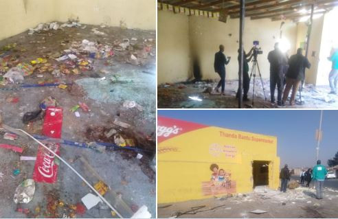 South African residents in Soweto go on a rampage, looting foreign-owned?shops