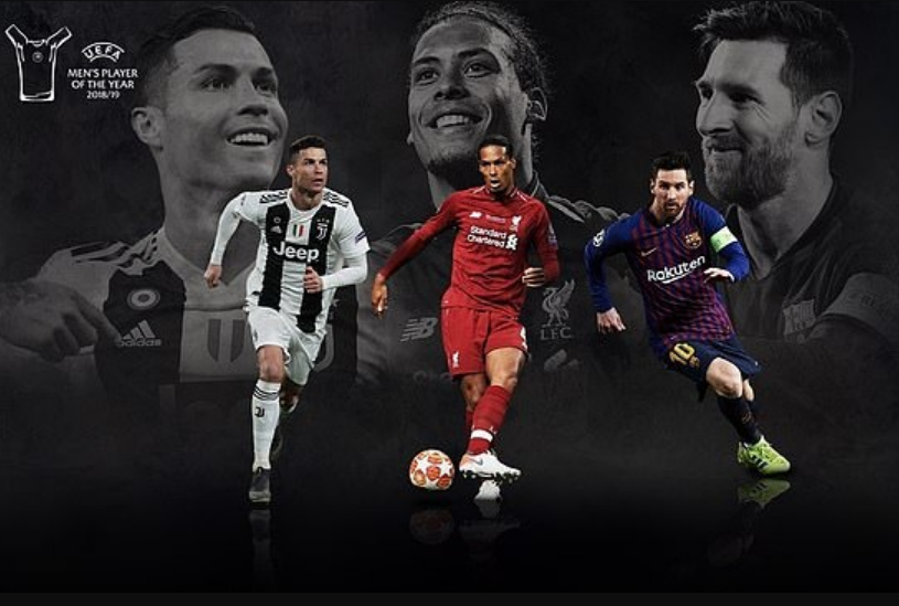 Lionel Messi, Cristiano Ronaldo and Virgil van Dijk on three-man shortlist for UEFA Men's Player of theYear
