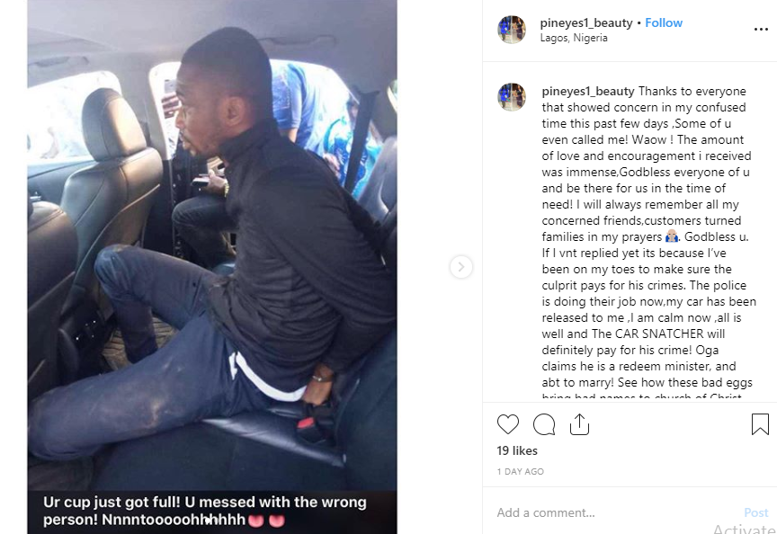 Pastor arrested after snatching Uber driver