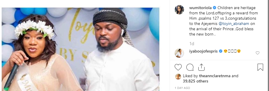 Pregnant Wumi Toriola calls out Toyin Abraham and a Toyin Titan who wished her death in childbirth