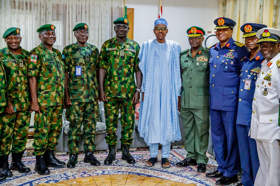 Photos: Service Chiefs, Senators, storm Katsina to pay Sallah homage to President Buhari