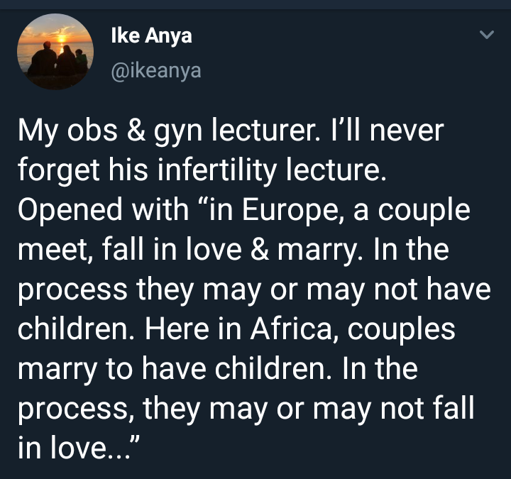 A Nigerian lecturer's comparison of marriage in Europe and Africa will have you thinking