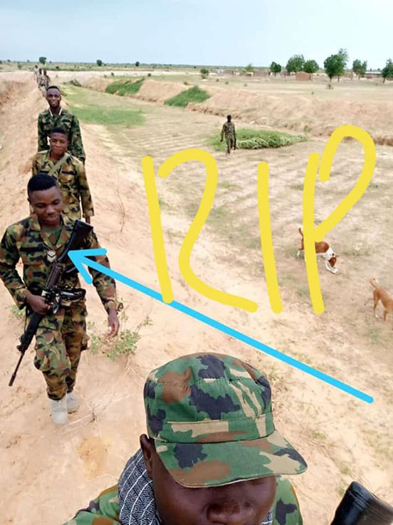 Photos: Gallant young soldier killed as troops foil Boko Haram attack on Borno village