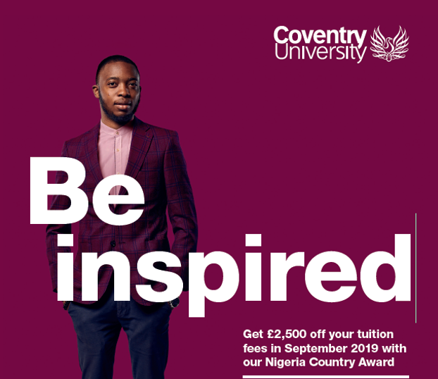 Coventry University - Be Inspired.... Get 2,500 pounds off your tuition