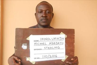 Ex-Banker jailed 10 years for stealing depositors' money (photo) - Michael adedayo Ihinolurinjon