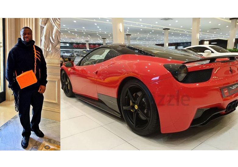 Hushpuppi buys himself a brand new Ferrari, shows off the new luxury whip (Photos)