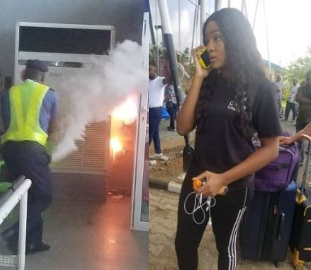 Photos/Video: Passengers flee as fire outbreak at?Sam Mbakwe Airport, Owerri disrupts flight